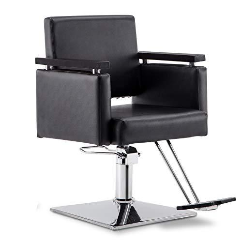 BarberPub Classic Hydraulic Barber Chair Salon Beauty Spa Styling Salon Equipment 8803 (Black)