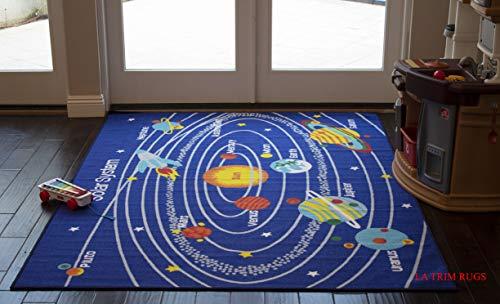 5x7 Kids Boys Children Toddler Playroom Rug Nursery Room Rug Bedroom Rug Fun Colorful (Solar System) -