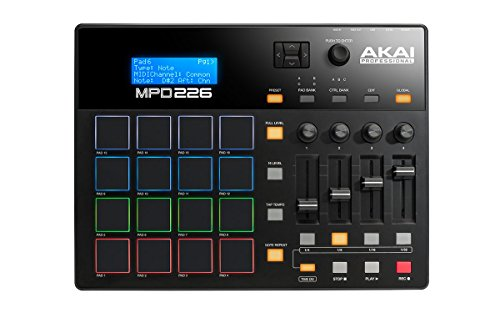 Akai Professional MPD226 | MIDI Drum Pad Controller with Software Download Package (16 pads / 4 knobs / 4 buttons / 4 faders)