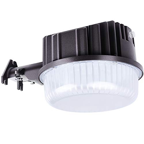 (AntLux 80W LED Dusk to Dawn Light Outdoor Barn Lights, 8600lm, 5000K Daylight, Photocell Included, Perfect Security Area Street Yard Light, 700W Incandescent or 200W MH/HID Equivalent, Bronze Finish)