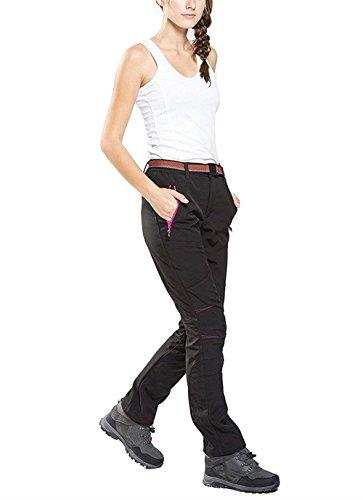 Impermeabile Ragazze Lunga Softshell Joggers Antivento Tuta Pantaloni Pantalone Pantaloni 2 Style Da Escursione Invernali Pantaloni Black Outdoor Festa Eleganti Donna Hot 1qU51