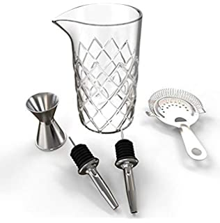 780d5e505e823 Professional Cocktail Mixing Glass Set (17 Ounce) – Yarai Mixing Glass –  Includes Strainer