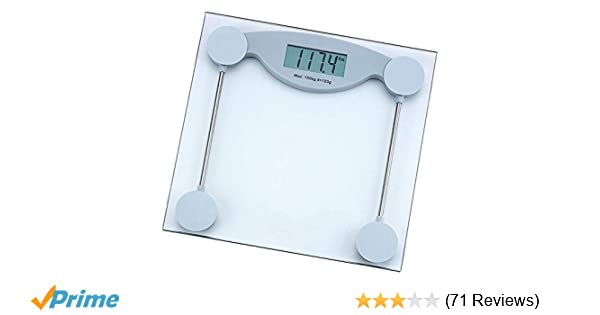 amazoncom healthsmart elscale3 health smart glass electronic bathroom scale home kitchen - Bathroom Scale Reviews