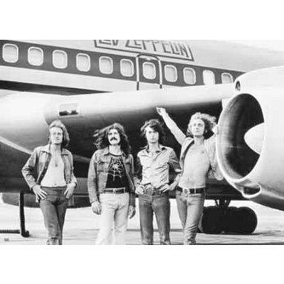 Led Zeppelin The Plane Photo Subway Poster Rare Stmr970 Giant Poster Print, 55x40