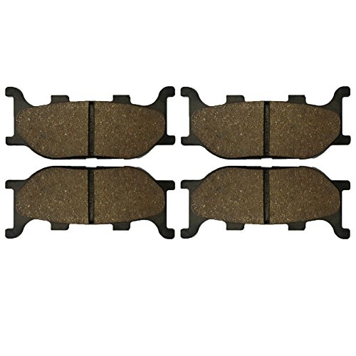 AHL Semi-metallic Brake Pads Set for Yamaha XVS1300 V-Star / 1300 Tourer 2007-2014 (Yamaha Tourer 1300 V-star)