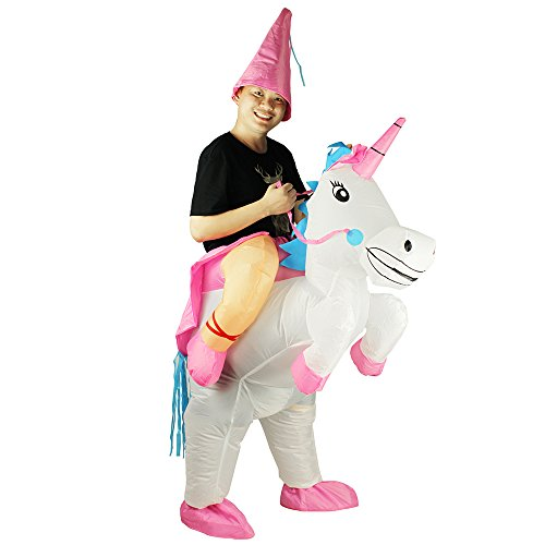 Unicorn Adult Inflatable Costume Cosplay Outfit Animal Racer - Track Usps Order