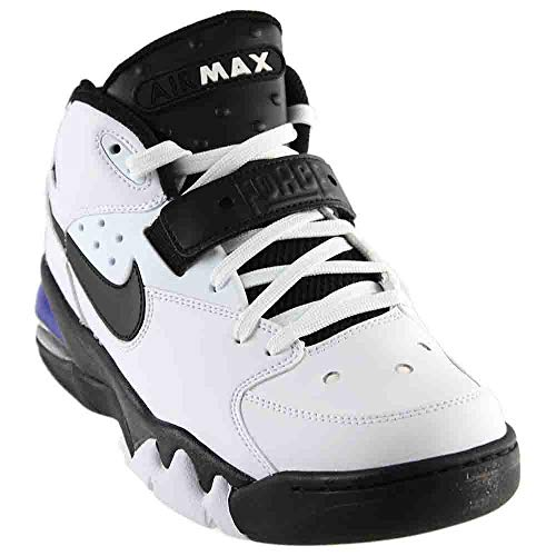Nike Air Force Max Basketball Men's Shoes Size 8, White / Black-cobalt