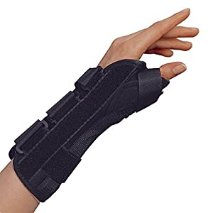 OTC Wrist-Thumb Splint, 8-Inch Adult, Lightweight Breathable, Small (Left Hand)