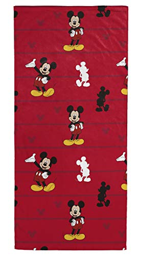 Franco Jay Bath Towels (Jay Franco Disney Mickey Mouse Kids Bath/Pool/Beach Towel and Drawstring Backpack Set - Super Soft & Absorbent Fade Resistant Cotton Towel, Measures 28