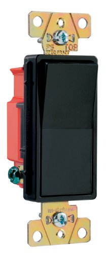 Legrand-Pass & Seymour 2621BKCC8 Decorator Switch Single Pole 20-Amp 120-volt/277-volt (Switch Black 20 Amp)