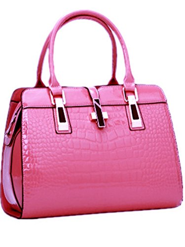 Generic Women's Hobo Bag PU 12IN Leather Handbag Purse Bags Barbie Pink by Generic