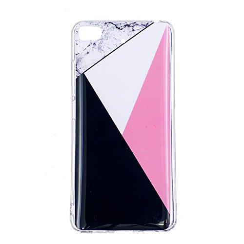 XiaoMi 5S Soft TPU Carcasa Funda, KaseHom mármol Cover Geometría de granito geométrica caso de las iniciales Protectiva Anti-rasguños Caso y [Lápiz óptico negro gratis] -8 1