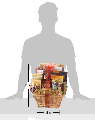 Broadway Basketeers Gift Basket Deluxe with Chocolates, Lindt Truffles, Assorted Nuts, Gourmet Cookies, Seasoned Nuts, Sweets and More. by Broadway Basketeers (Image #2)