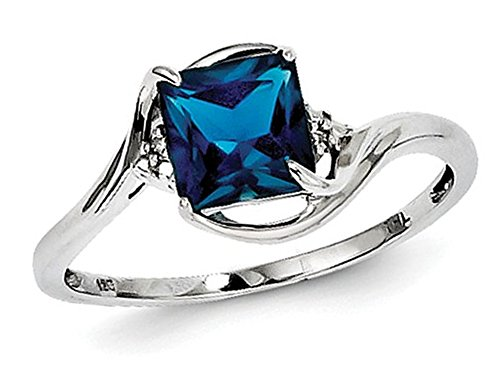 Ladies London Blue Topaz Ring 1 1/3 Carat (ctw) in Sterling (Blue Topaz Ring Free Ship)