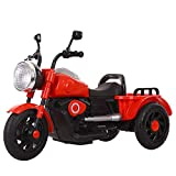 Kid Electric Tricycle,Harley Motorcycle Children's Electric Car Boys and Girls Can Sit on The Pedal Electric Tricycle with Music Suitable for Children's Gifts