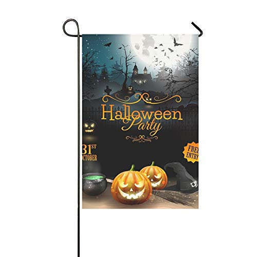 WBSNDB Home Decorative Outdoor Double Sided Halloween Party Flyer Pumpkins Hat Pot Garden Flag,House Yard Flag,Garden Yard Decorations,Seasonal Welcome Outdoor Flag 12 X 18 Inch Spring Summer -