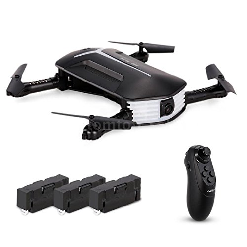 Sefter RC Helicopter JJR/C H37 Baby Elfie RC Quadcopter Headless Mode 4CH Drone Selfie Toys 3 Battery (Black)