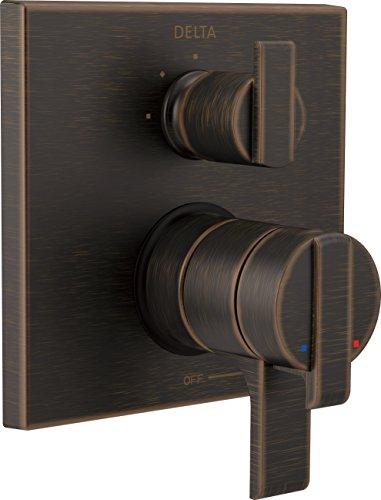 RB Ara Angular Modern Monitor 17 Series Valve Trim with 3-Setting Integrated Diverter, Venetian Bronze ()