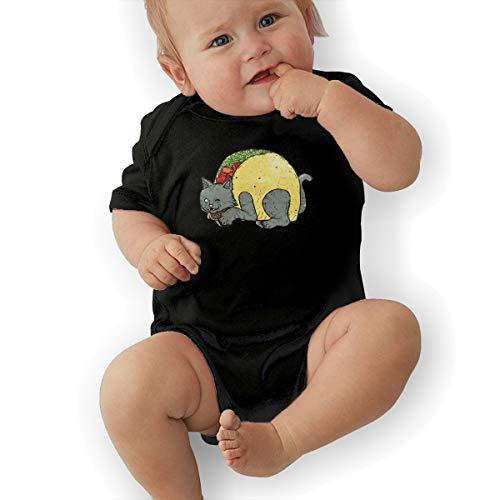 Faleny Cotton Baby Onesies-Unisex Breathable Rompers Taco Cat Clip Art Bodysuits Lab Shoulder Neckline Jumpsuit Infant One-Piece Outfit Short Sleeve Jersey 0-24 Months -
