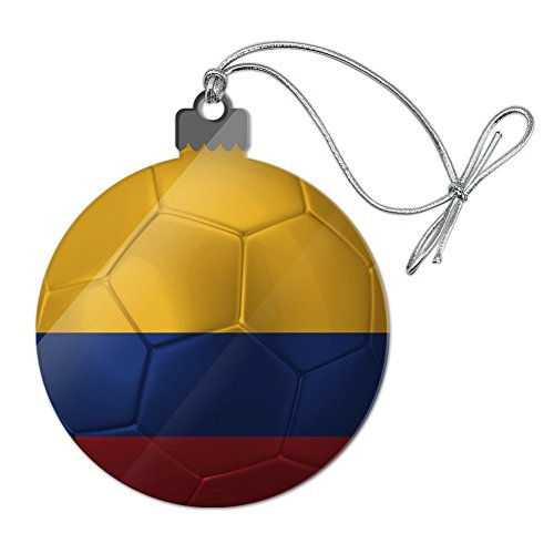 GRAPHICS & MORE Colombia Flag Soccer Ball Futbol Football Acrylic Christmas Tree Holiday Ornament