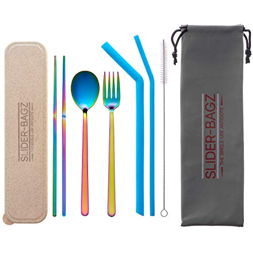 Travel Cutlery Set Stainless Steel for Camping, Picnics, Work Lunches, Lunchbox, Food Halls and Your Handbag. Reduce…