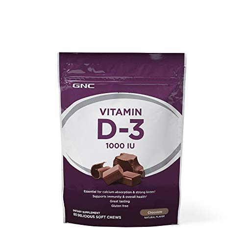 - GNC Vitamin D3 1000 IU Chocolate 60 Chews
