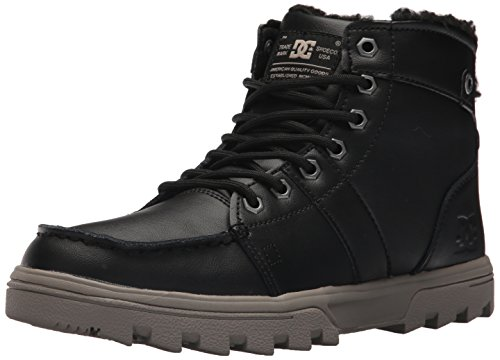 DC Men's Woodland Ankle Boot, Black/Tan, 11 D D US