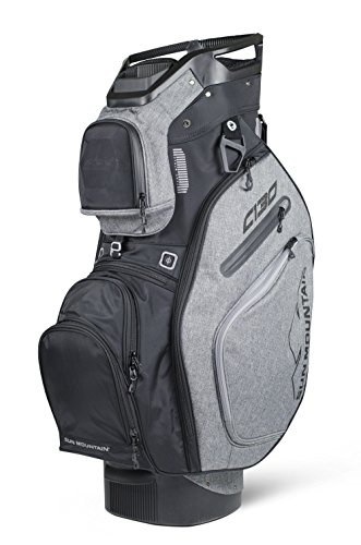 Sun Mountain Golf 2018 C-130 Cart Bag Black, Charcoal (Black/Charcoal)
