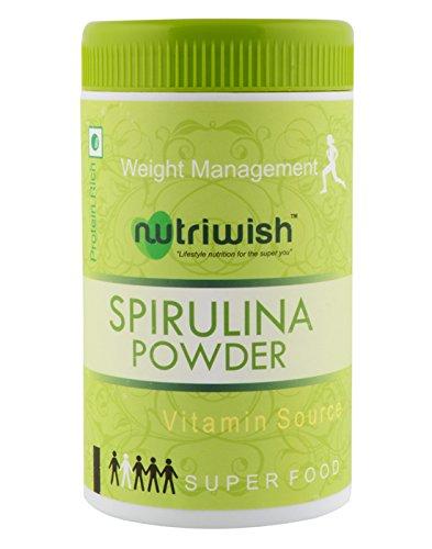 Nutriwish Spirulina Powder 100 gms (Reusable Packaging With Scoop) , Popular Superfood