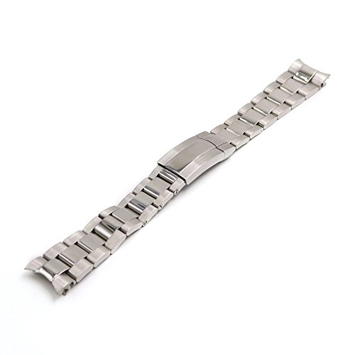- 20mm 316L Stainless Steel Solid Curved End Screw Links Wrist Watch Band Strap Bracelet for Oyster Submariner