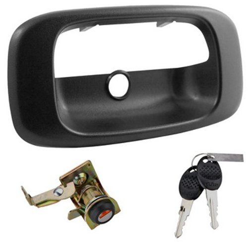 Integrated O.E. Look Tailgate Lock for 1999-2007 Chevrolet Silverado and GMC Sierra 1500/2500/3500 (Tailgate 1500 2500 Truck)