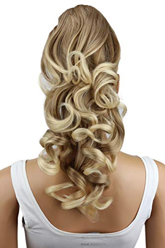 "PRETTYSHOP 20"" Hair Piece Pony Tail Clip On Extension Voluminous Curly Heat-Resisting Blonde mix # 27T613 H207"