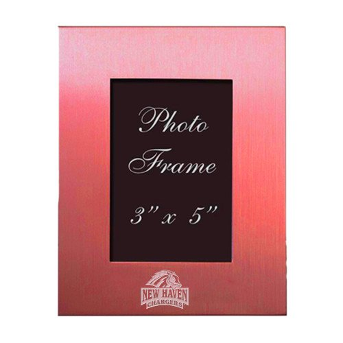 New Haven Pink Brushed Aluminum 3 x 5 Photo Frame 'Official Logo Engraved' by CollegeFanGear