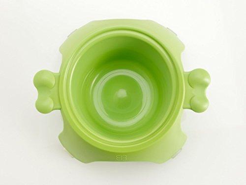 Petego Yoga Raised Pet Bowl, Small, Green