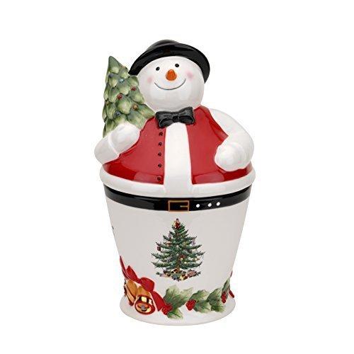 Spode Christmas Mr. Snowman Cookie Jar