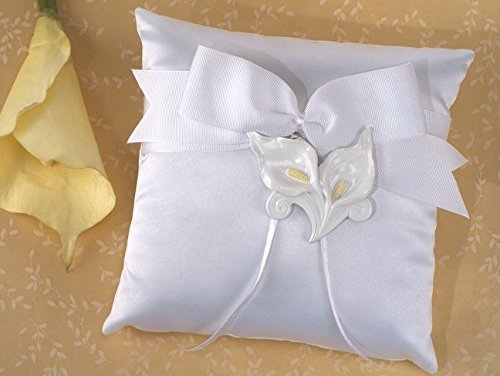 Classic Calla Lily Ring Pillow by Cassiani