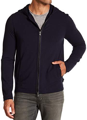 John Varvatos Star USA Men's Zip Front Hoodie Faux Leather Trim X-Large - Varvatos John Zip Mens