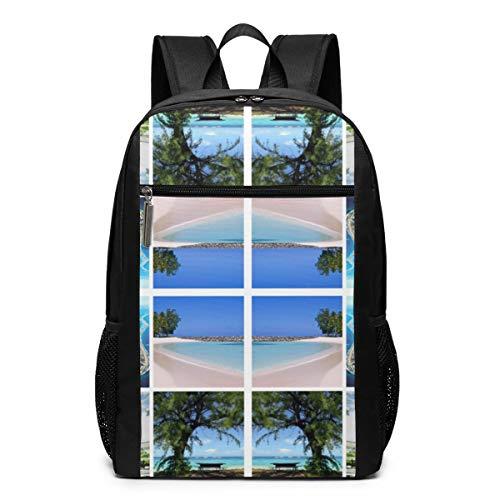 - Oswz Kwajalein Window Pane Wallpaper (8926) Laptop Backpack for Women Men Stylish Backpack College School Backpack Business Travel Durable Backpack Fit Laptop