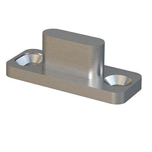 Stainless Steel Sliding Barn Door Hardware Floor Mount Floor - Slot Guide