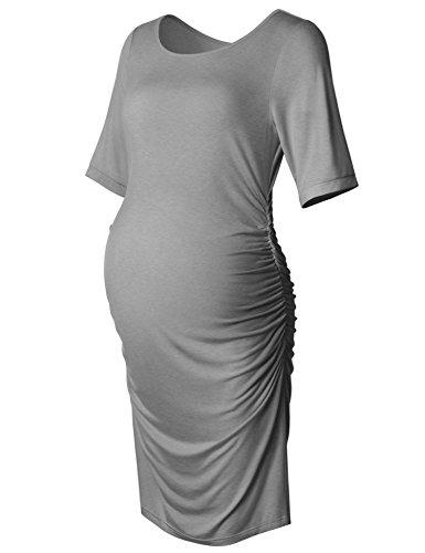 gray maternity dress - 1