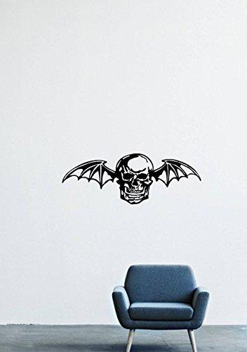 Avenged Sevenfold Rock Band Music Hardcore Logo Skull Wing Skeleton Bones Flight Death Wall Decals Decor Vinyl Stickers - Avenged Wings Sevenfold
