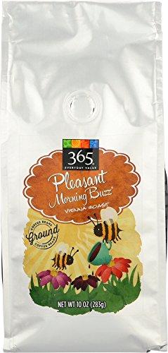 365 Everyday Value, Pleasant Morning Buzz Vienna Roast Ground Coffee – Bag, 10 oz