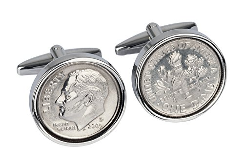 13th Wedding Anniversary- Mint 2005 Coin Cufflinks- 100% Satisfaction Guarantee