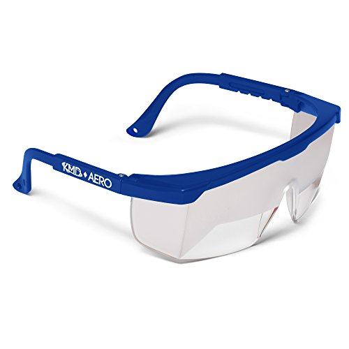 Glasses Training - Aviation Flight Training Glasses - IFR Certified View Limiting Device for Pilot Training & Simulation of Instrument Meteorological Conditions - Frosted Adjustable Polycarbonate Frames (1, Blue)