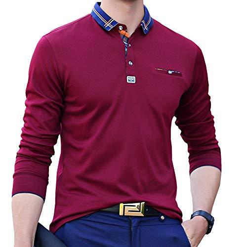 ポロシャツ 長袖 メンズ ゴルフウェア ビジネス スポーツポロシャツ 男性 ゴルフポロシャツ 秋 冬 春 7色展開