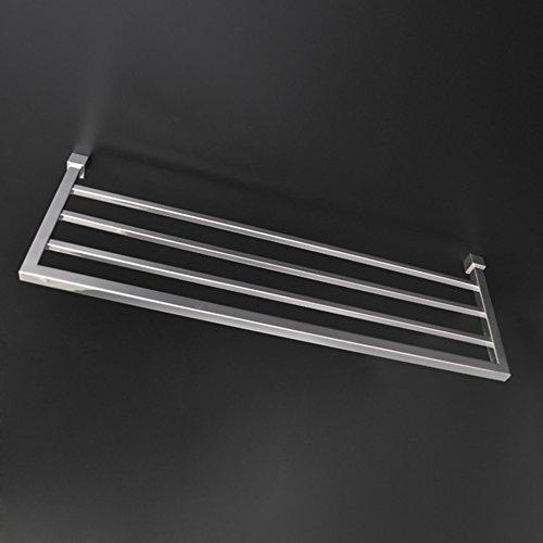 [해외]라카 바 (Lacava) 스테인레스 스틸 재질의 벽걸이 용 수건 걸이, 24 W, 8 1 2 D, 7 8 H 스테인리스 스틸 쿼드 러/Lacava Wall-mount towel rack made of stainless steel, 24 W, 8 1 2 D, 7 8 H Brushed Stainless Steel Quadro