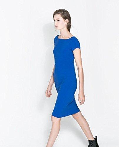 Zara azul tamaño de la funda de cambio de marchas e instrucciones para hacer vestidos: