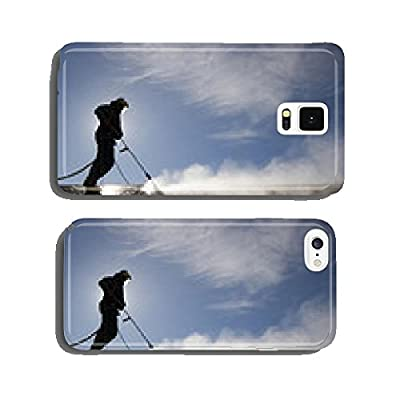 Worker on top of factory hall, with high pressure washer cell phone cover case Samsung S5