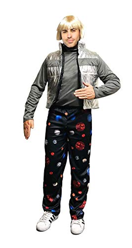 Seeing Red SNL Space Pants Costume Complete with Wig and Vest | Men's Black]()