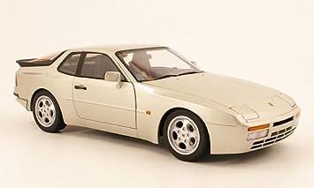 Porsche 944 Turbo, plateado , Modelo de Auto, modello completo, AutoArt 1:18: Amazon.es: Juguetes y juegos